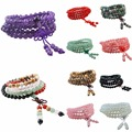 SUNYIK Tibetan Buddhist 108 Mala Quartz/Agate/Opal/Amethyst Gem Stone 6mm Beads Bracelet Bangle Necklace