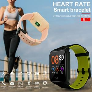 Image 3 - 2019 B11 pulsera inteligente 9,9mm cuerpo Fitness reloj impermeable monitoreo Frecuencia Cardíaca sueño reloj inteligente para Android e IOS8.0