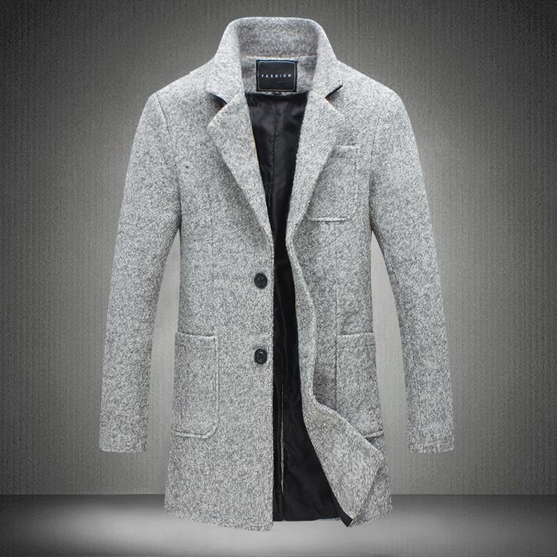 2018 New Trench Coat Men Brand Clothing Winter Fashion ...