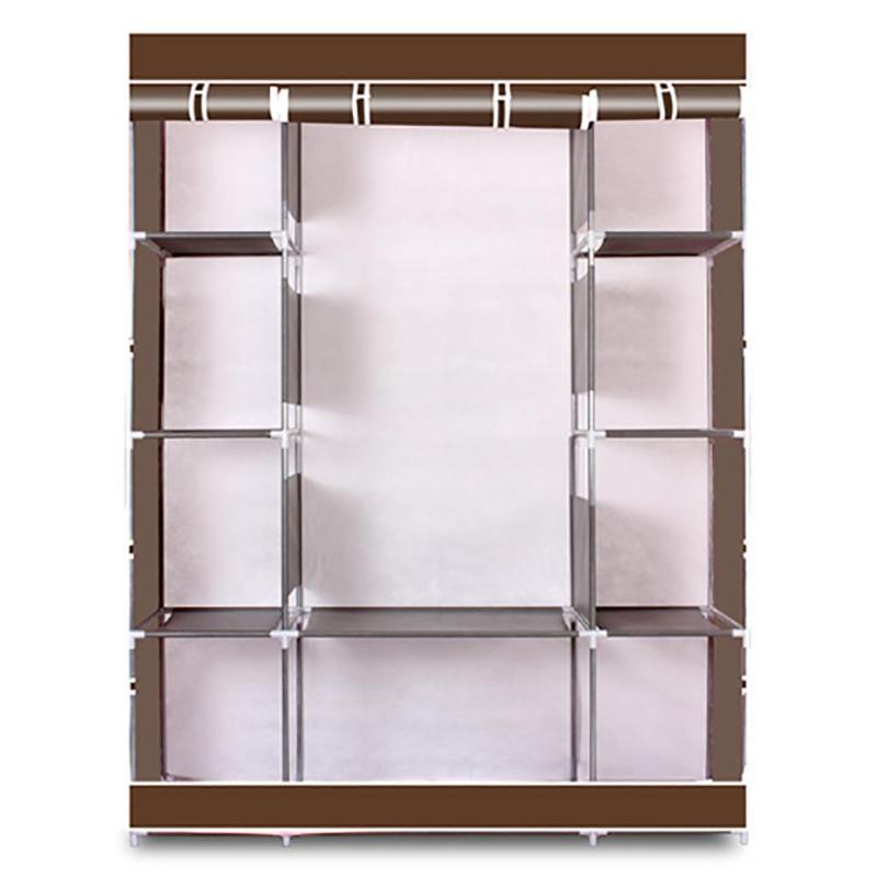 Simple 4-Layer 10 Lattices Non-Woven Fabric Wardrobe Home Storage Organizer E5M1