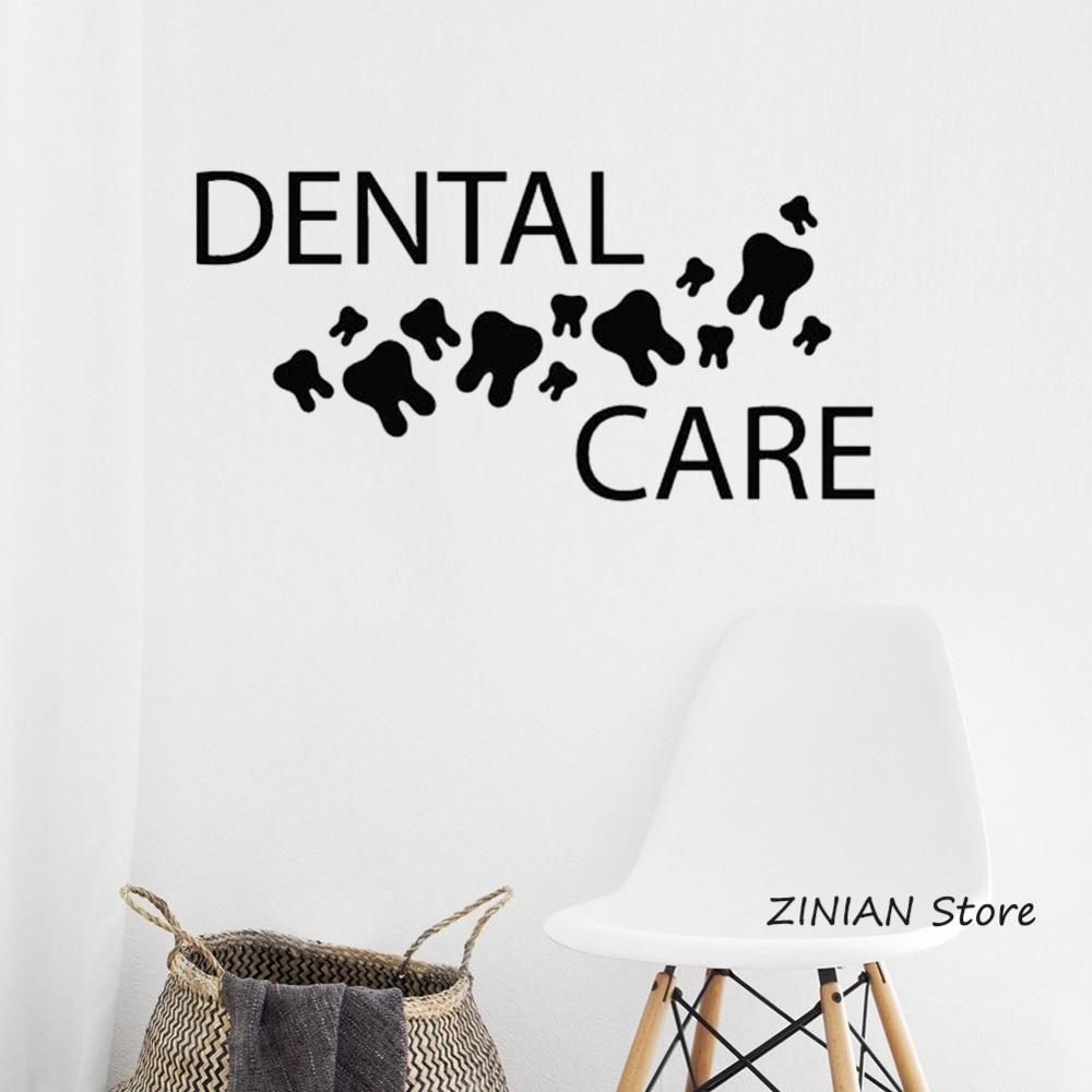 Dental Care Vinyl Wall Decal Healthy Teeth Mural Dentist Clinic Art Decor Stickers Wallpaper Home Decorate Bathroom Decals Z047 Vinyl Wall Decals Bathroom Decalswall Decals Aliexpress