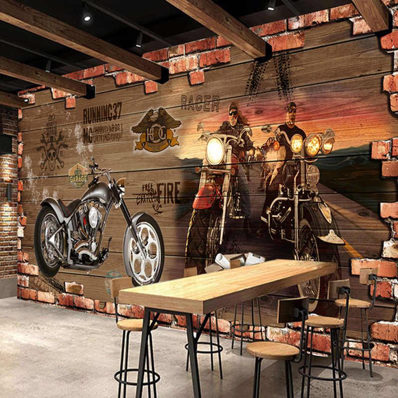 Personalizado personalización Retro De ladrillo Wallpaper restaurante Cafe decoración creativa 3D mural con relieve Papel De Parede 3 D