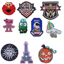 1 pcs flag astronaut Tower patches clothing applications decal embroidery for clothes Heat Transfer Sewing stripes DIY jacket E(China)