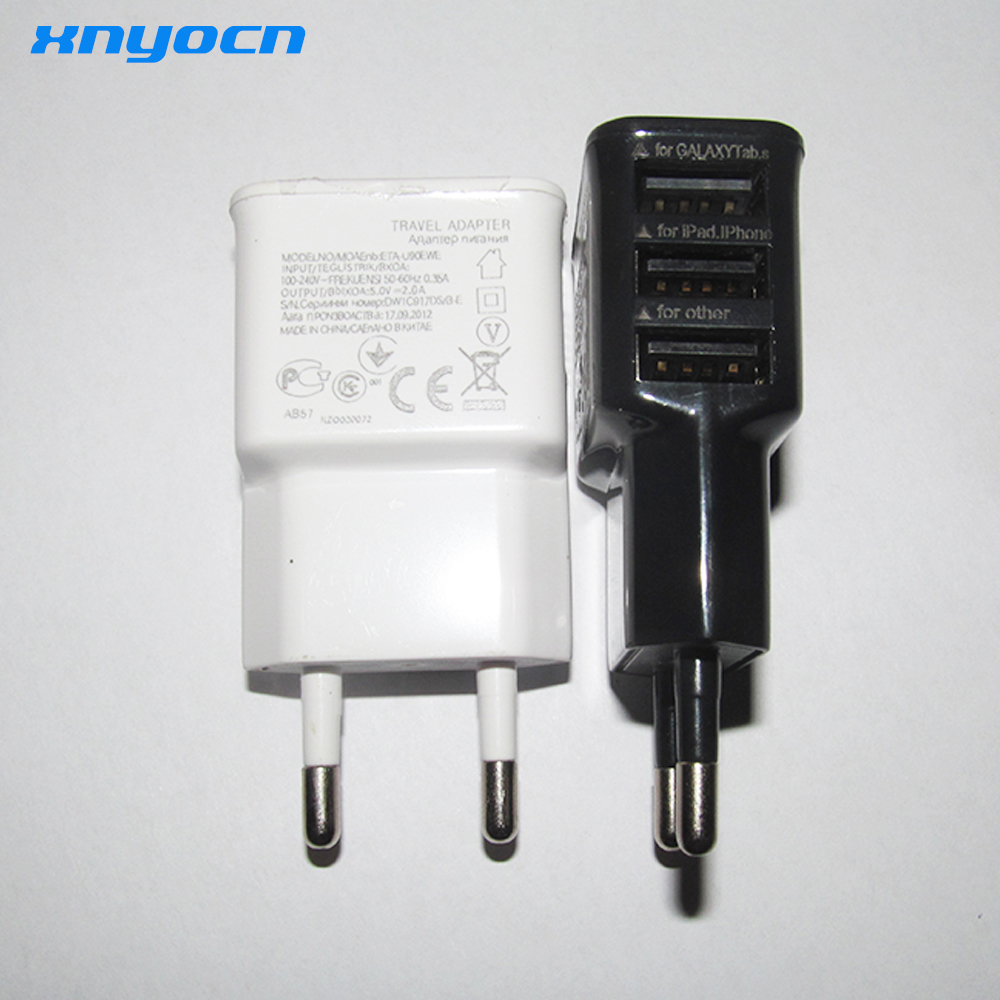 Eu Plug 3 Port Usb Dinding Travel Charger Adapter Untuk Iphone 6 Wireless Datar Samsung S Ios Android Smartphone