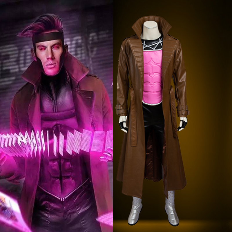 Hero Catcher  High Quality Movie X Men Cosplay Costume For Man Gambit Cosplay Costume Set Hero X Man Costume