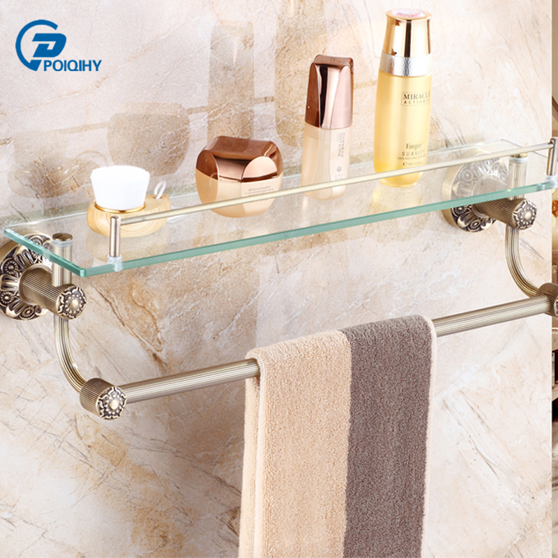 Poiqihy Antique Brass Towel Racks For Bathrooms Steel Bath