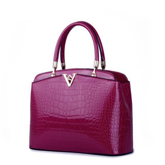 ᐊRagcci charol genuino bolso crossbody moda cocodrilo patrón de ...