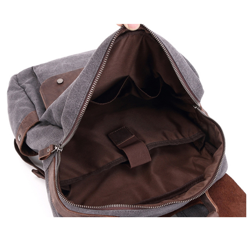 DECRJI Luxury Designer Men Bag Backpack Crazy Horse Leather Laptop Men's Backpacks Male Canvas Mochila Escolar Rucksack School