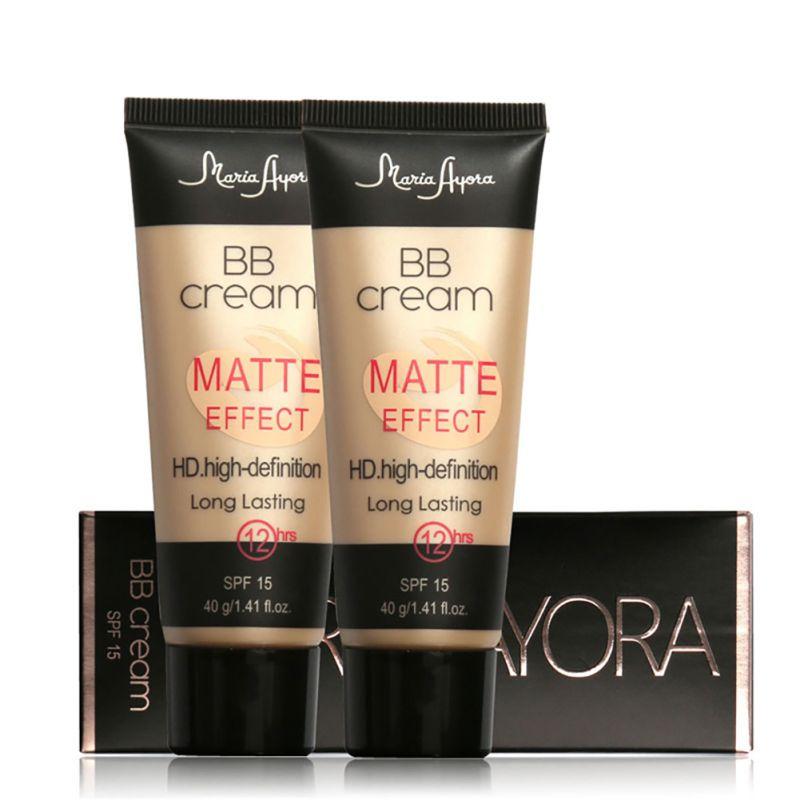 Professional Long Lasting Women Make Up SPF 15 Sun Block Matte Natural Face Concealer Makeup Base BB Cream New