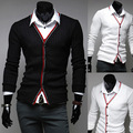 2014 New Spring Brand  Classical Preppy Style V-neck Slim fit Mens Sweaters Casual Cardigan Long-sleeve Man Clothing M-XXL