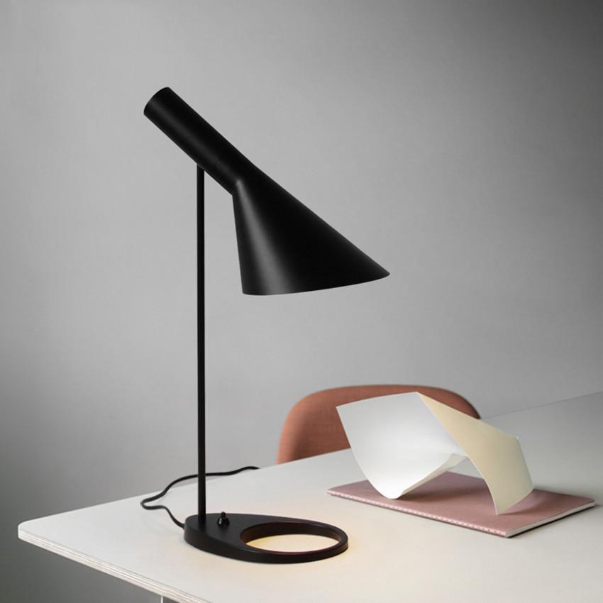 Modern New Black Led Table Lamps Bedroom Bedside Decorate Lighting Nordic AJ Desk Lamp Cafe Aisle