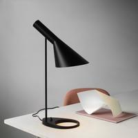 Modern New Black Led Table Lamps Bedroom Bedside Decorate Lighting Nordic AJ Desk Lamp Cafe Aisle Hall Study Read Lights