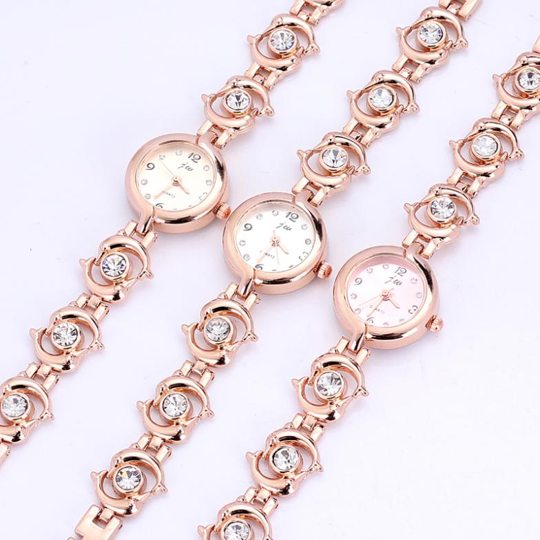 Nice Quartz Popular Dolphin Design Chain bracelet watch Luxury ...