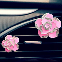 CDCOTN 2PCS Car Air Freshener Camellia Air Conditioning Perfume Clip Car Interior Decoration Accessories Styling Auto Products