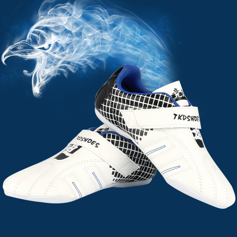 Taekwondo shoes Sport Boxing Kung fu TaiChi shoes for Adult men women children for size 27-44 Training Sneaker With one free bag