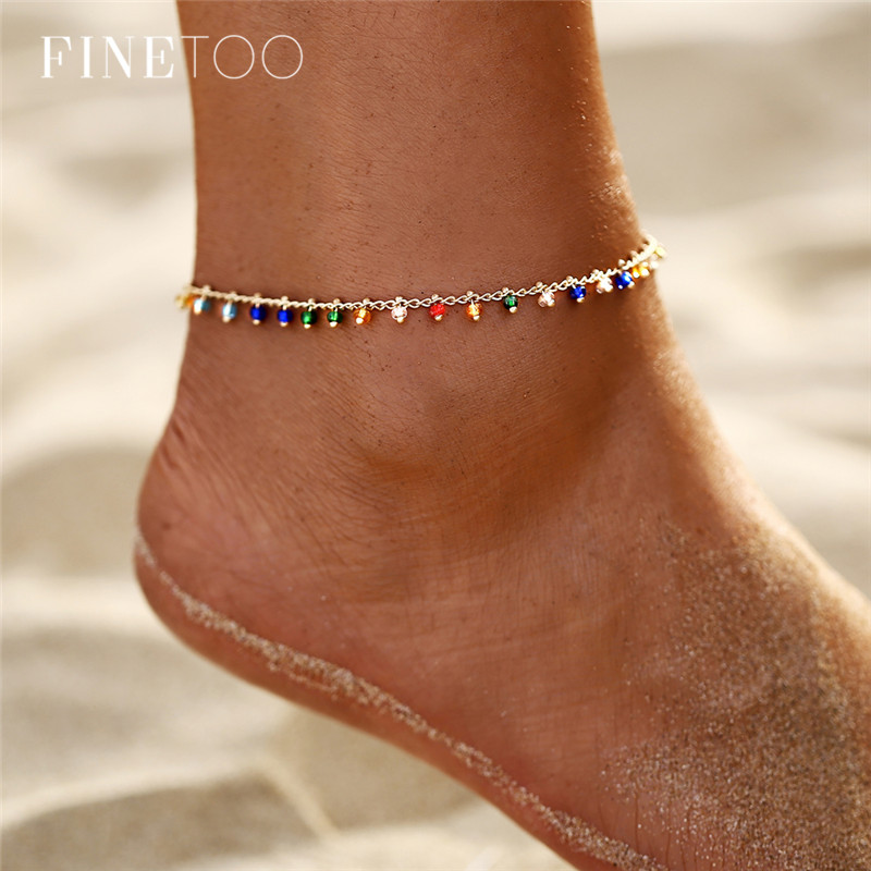Fashion Colorful Seed Beads Cowrie Shell Ankle Bracelet Summer Ocean Beach Anklets for Women Foot Leg Bracelet Jewelry