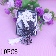 Angel Bear Silver Metal Bookmark For Children Christening Souvenirs Bridal Baby Giveaway Party Wedding Gift Guest