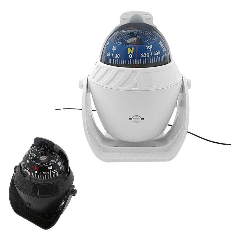New ABS LED Light Electronic Vehicle Car Navigation Sea <font><b>Marine</b></font> Boat Ship Digital Compass B2Cshop