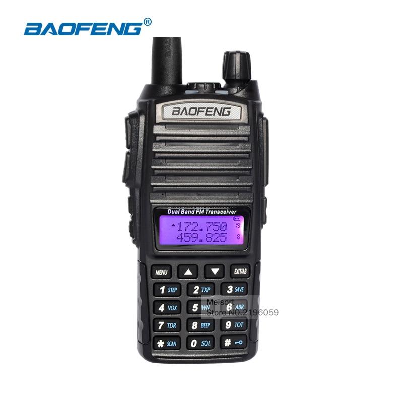 imágenes para Walkie talkie con auriculares baofeng uv-82 2 way radios de largo alcance de doble banda cb radio transceptor hf comunicador batería antena