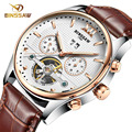 2016 Fashion Men Male BINSSAW Top Brand Luxury Mechanical Watch Steel Automatic Stylish Classic Steampunk Wristwatch BEST Gift