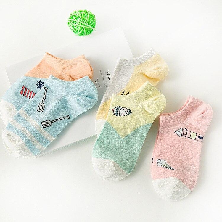 Zhuji socks wholesale summer boat socks women cotton candy cartoon boat socks female socks a generation of delivery 917