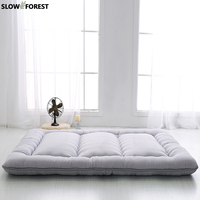 Slow Forest Queen Mattress Thickened Bed Mat Carpet Economy 1.8M Doubt Folding Mats Lazy Cushile Floor Sleeping Maon Sheet