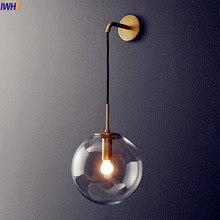 Современный светодиодный настенный светильник в скандинавском стиле, стеклянный шар, зеркало для ванной комнаты, американский Ретро настенный светильник, бра Wandlamp Aplique Murale