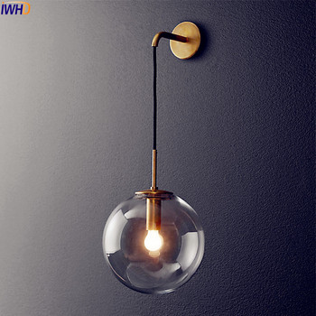 Nordic Modern DIPIMPIN Dinding Lampu Bola Kaca Cermin Kamar Mandi Di Samping Amerika Retro Wall Light Sconce Wandlamp Aplique Murale