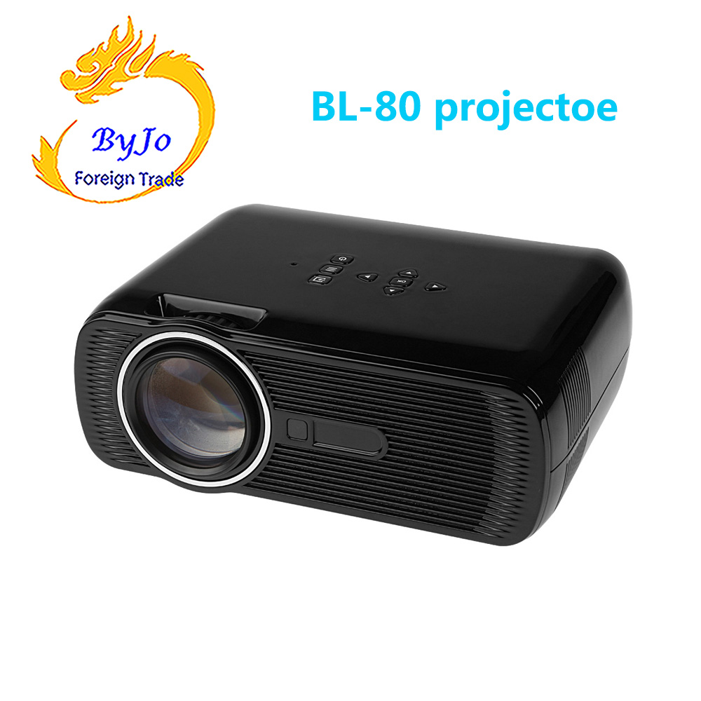 все цены на BL-80 Mini WIFI LED Projector Android 4.4 HD 1080p Video Media Player Portable Home Theater онлайн