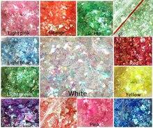 20g Ab arte holográfico para uñas Glitter Shell Flakes Nail Art unicornio aplastado mylar sirenas copos de espejo de vidrio roto, HJ76