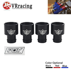 VR - 4pcs Racing PQY Fuel Injector Top For Hats Adapters RDX Injectors to B16 B18 D16Z D16Y WITH PQY STICKER JR-FIA01