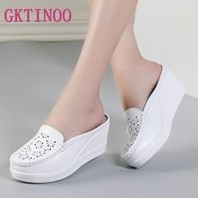 GKTINOO Summer Woman Shoes Platform Slippers Wedge Flip Flops Women High Heel Slippers For Women Casual Sandals Female Shoes