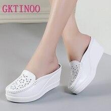 GKTINOO été femme chaussures plate forme pantoufles cale tongs femmes pantoufles à talons hauts pour les femmes sandales décontractées chaussures féminines