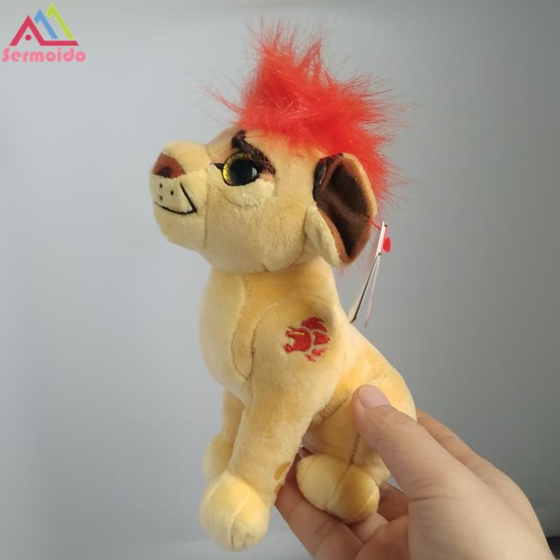 sermoido 6'' The Lion Guard Kion Beshte Hippo Fuli Cheetah Bunga Honey Badger Ty Sparkle Plush Toys Stuffed Animals DBP114 the white guard