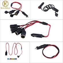 KWOKKER, универсальное автомобильное зарядное устройство, прикуриватель, разветвитель, 12 В, розетка, разъем адаптера питания, разъем, авто удлинитель, адаптеры