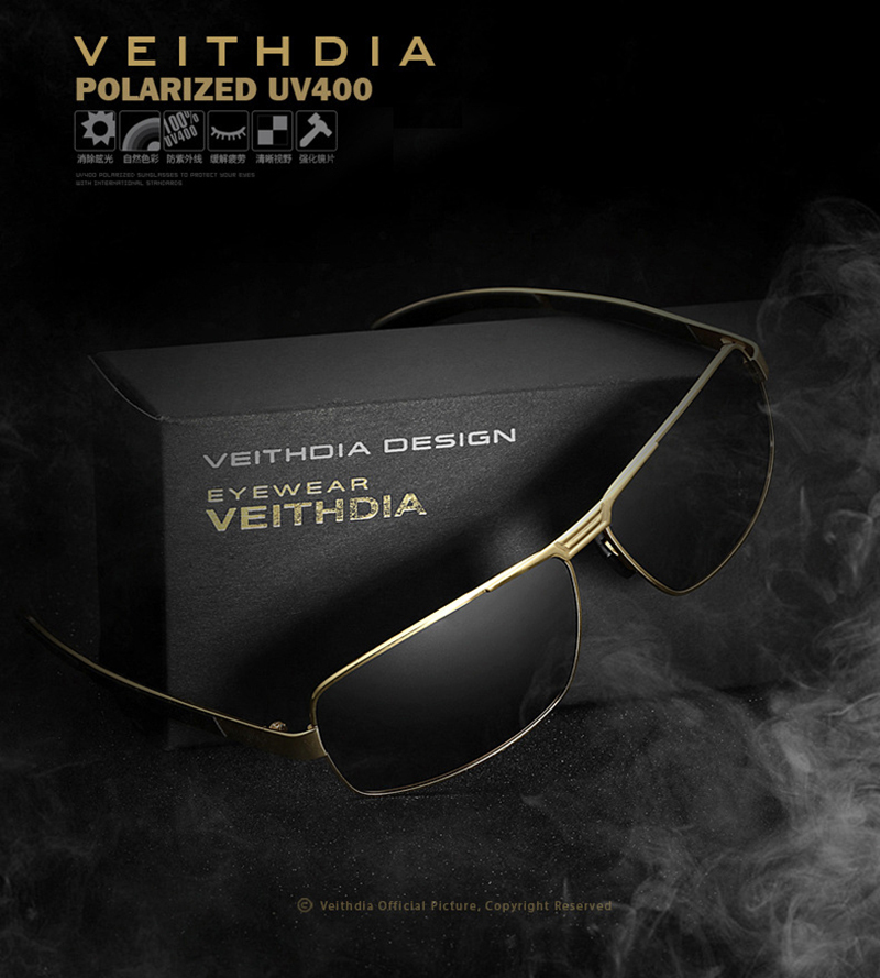 Image 3 - VEITHDIA Brand Men's Sunglasses Polarized Sun Glasses oculos de sol masculino Eyewear Accessories For Men 2490-in Men's Sunglasses from Apparel Accessories