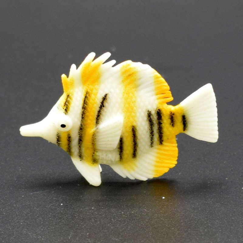 12 шт. различные реалистичные симуляции супер мини океан море декоративные рыбы фигурка игрушка для детей развивающие игрушки