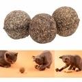 Горячие Продажи 3 ШТ. Кошка Игрушка Природный Котенок Мяч Ментол Вкус Кошка Лечит Мяч Игрушки Для Домашних Животных Кошка Поставок