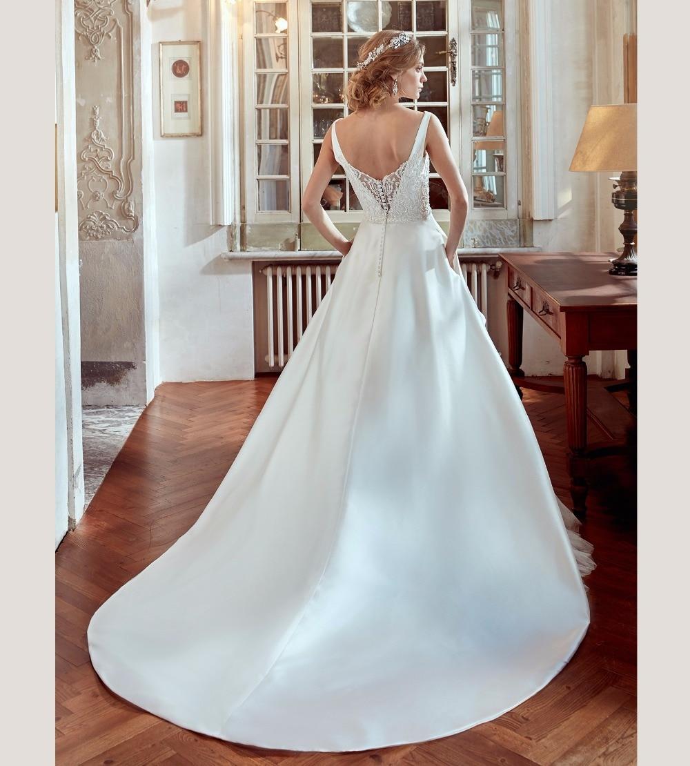 New Fashion 2017 Wedding Dress V neck Cap Sleeve A Line High low ...
