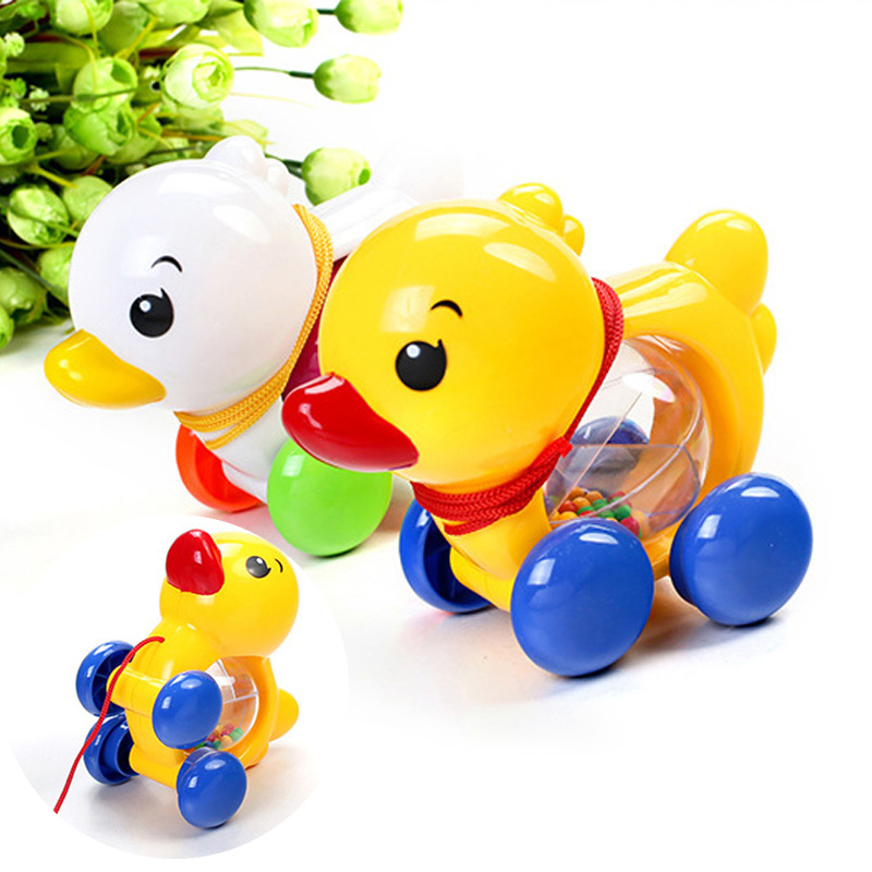 Funny Rattle Baby Toys Speelgoed Pull Rope Duck Toy for ...