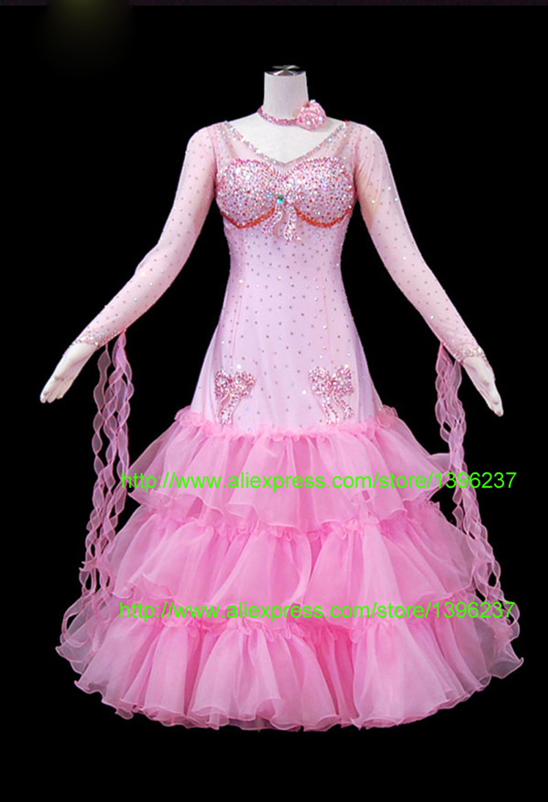 Costume of ballroom dance Excellent 2016 New Smooth Ballroom Dress competition gowns waltz dresses salsa dress