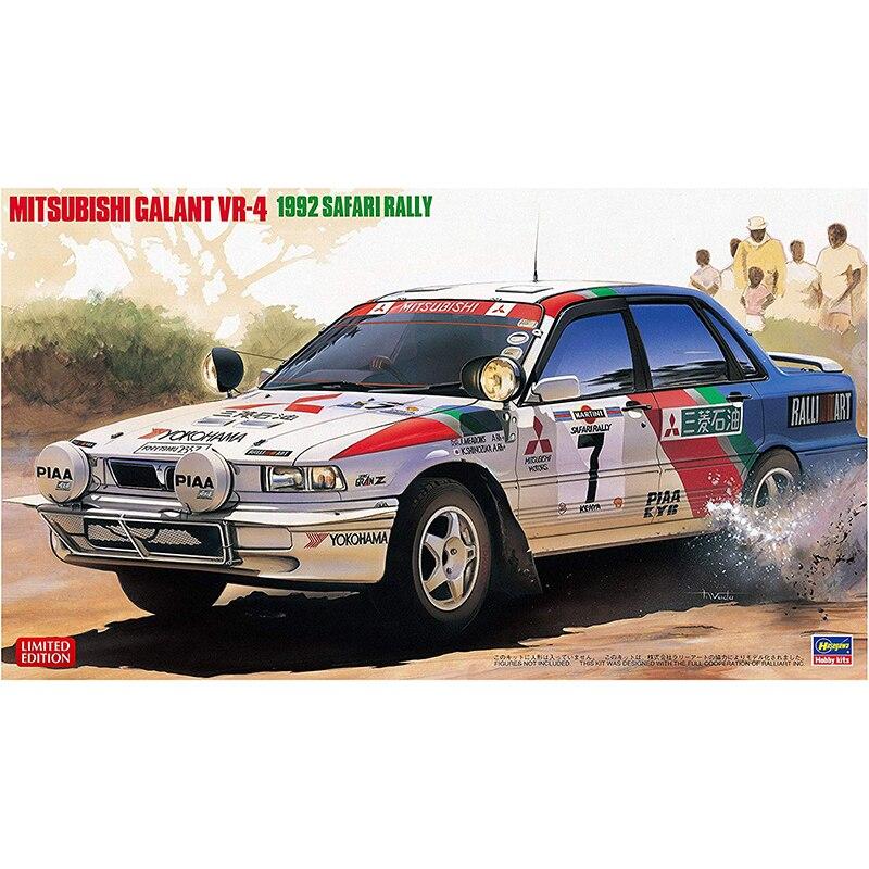 1 24 Hasegawa 20307 MITSUBISHI GALANT VR 4 1992 safari rally model hobby