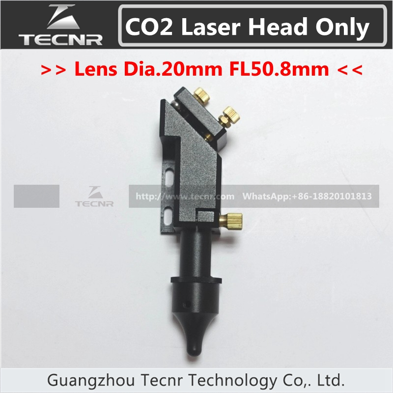 CO2 laser cutting head  20MM laser lens 25MM laser mirror for laser engraver co2 laser head mirror and lens integrative mount laser cutting engraving
