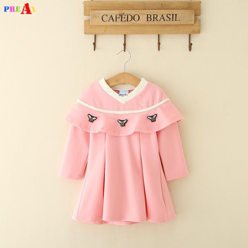 Baby Girls Luxury Brands Dress 2018 New Designer Embroidery Girls Dresses Children Princess Red Dress Kids baby girl vestidos