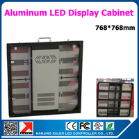 Aluminum led display cabinet 768*768mm for P6 led modules indoor led display cabinet rental indoor led video wall