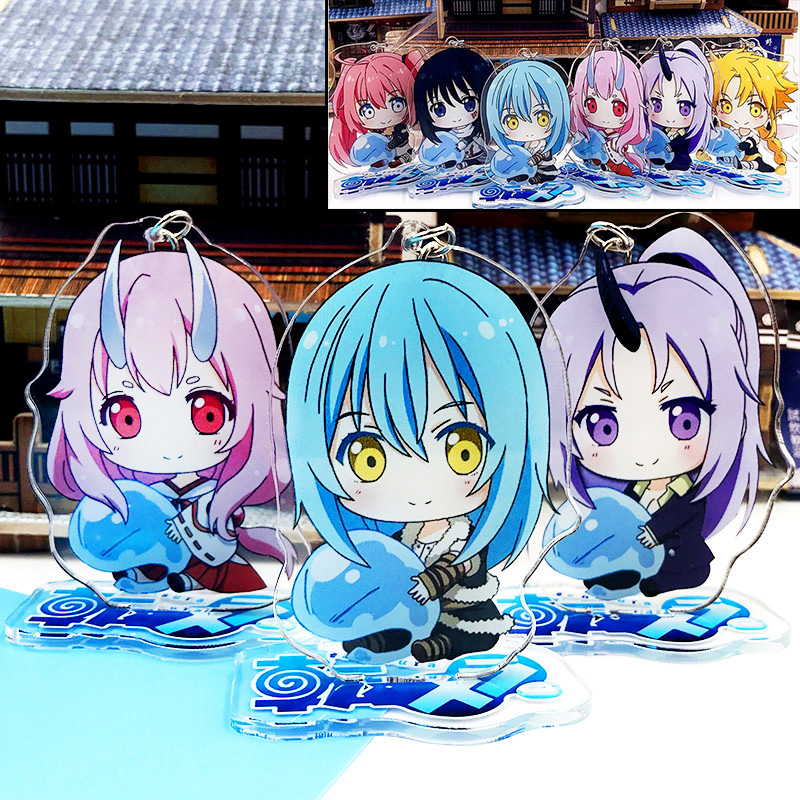 Japanese Anime Tensei shitara Slime Datta Ken Rimuru Tempest Acrylic Stand Figure Model Toys 7cm Cosplay Pendant Keychain Gift