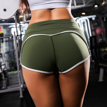 Hot sexy Sports Exercise Shorts Women Yoga Shorts Low Waisted Sexy Peach Hips Quick Dry Fitness Running Gym Shorts 5