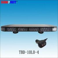 高電力56ワットled緊急交通車緊急警告ストロボビーコンライトバー12ボルトミニ警告ランプライトバー(TBD-10L2-4)