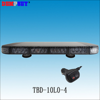 High Power 56W LED Emergency Traffic Car Emergency Warning Strobe Beacon Light Bar 12V Mini Warning Lamp Lightbar(TBD 10L2 4)