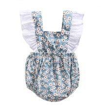 Ins/модный Боди без рукавов с цветочным рисунком для маленьких девочек; Повседневный хлопковый летний комплект одежды для малышей 0-3 лет; комбинезоны для малышей